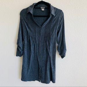 3/25 Morherhood maternity gray Tunic blouse top. L
